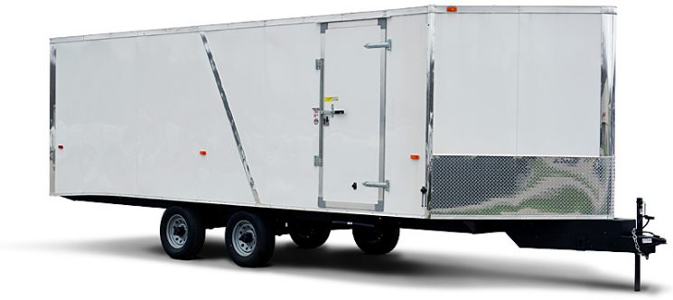 haulin HAFS-Flat Top Deck-Over Snowmobile Trailer