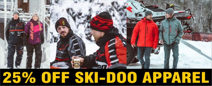 Get 25% off ALL our Ski-Doo apparel