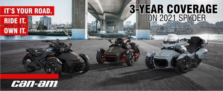 3 years of coverage on 2021 Spyder