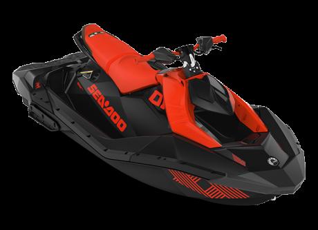 2022 Sea-Doo SPARK TRIXX 3 up lava-red/deep-black